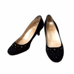 WASHINGTON GINZA ワシントン 銀座 宝飾ドレスレザーヒールシューズ (黒 靴 皮 日本製 Made in Japan ギンザ) 109428