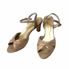 WASHINGTON GINZA ワシントン 銀座 レザーヒールサンダル (ベージュ ミュール 靴 皮 日本製 Made in Japan ギンザ) 109430
