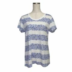 美品 UT UNIQLO×LIBERTY ユーティ ユニクロ×リバティ フラワーボーダーTシャツ (半袖 限定 コラボレーション) 109454
