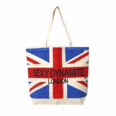 【新品】 廃盤 SEXY DYNAMYTE LONDON セクシーダイナマイト ロンドン ユニオンジャックトートバッグ (生成り 鞄 セクダイ) 109492