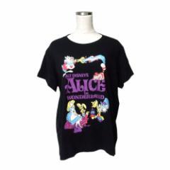 美品 UT UNIQLO×Disny ユーティ ユニクロ×ディズニー アリスインワンダーランドTシャツ (黒 不思議の国のアリス) 109529