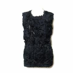COMME des GARCONS コムデギャルソン「M」2011 動揺期 フリルコサージュTシャツ (黒 半袖 Boulevers?) 110152