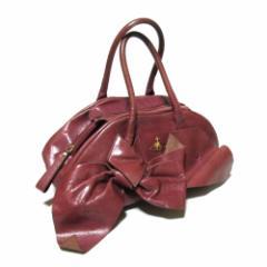 Vivienne Westwood ヴィヴィアンウエストウッド ゴールドオーブレザーリボンバッグ (皮 革 ORB ヤスミンバッグ 鞄) 110160