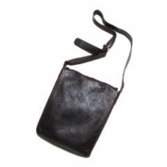 廃盤 Masaki Matsushima マサキマツシマ  グランジレザーショルダーバッグ (ボルドー 鞄 皮 革ユニセックス) 110170
