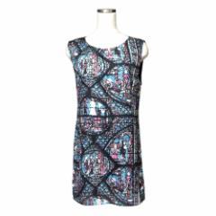 美品 MURUA ムルーア ステンドグラスワンピース (黒 ドレス) 110367
