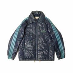 Vintage old adidas ヴィンテージ オールド アディダス フルジップデサントダウンジャケット (紺 ネイビー ライン ブルゾン) 110431