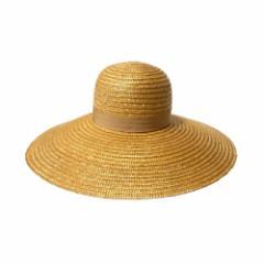 美品 VIntage  ヴィンテージ 昭和レトロ 麦わら帽子 (ワイド ストローハット) 110676