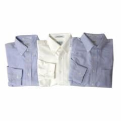 L.L.Bean エルエルビーン 定番オックスフォードボタンダウンシャツ 3点セット (白 ブルー 鹿の子 長袖 アメリカ) 110682