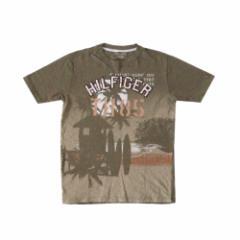 TOMMY HILFIGER トミーヒルフィガー 刺繍加工Tシャツ (カーキ 半袖) 110689