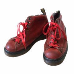 Vintage Dr.Martens ヴィンテージ ドクターマーチン England トレッキングレザーブーツ (赤 革 皮 靴 英国製) 110941
