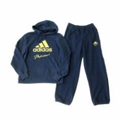 adidas アディダス ゴールドロゴスエットセットアップスーツ (紺 ネイビー パンツ パーカー フード付き) 111357
