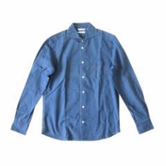 美品 ETONNE ALBIATE エトネ アルビアーテ インディゴデニムシャツ (シャンブレー ブルー イタリア製ファブリック使用) 111650