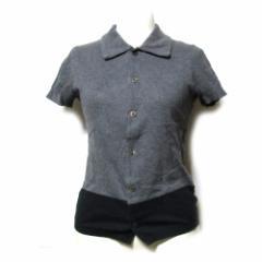 tricot COMME des GARCONS トリコ コムデギャルソン 1996 コットンニットポロシャツ (グレー 半袖ニット Tシャツ) 112155