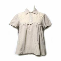 tricot COMME des GARCONS トリコ コムデギャルソン 2007 シャーリングポロシャツ (ベージュ 半袖 Tシャツ) 112156【中古】