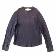 Abercrombie & Fitch A&F アバクロンビー&フィッチ ワッフルトレーナー (アバクロ 紺 長袖Tシャツ) 112196