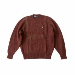 POLO RALPH LAUREN ポロラルフローレン 定番 ワンポイントシェットランドニットセーター (茶色 ブラウン ポニー) 112312