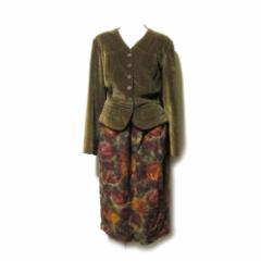 Vintage old FENDI ヴィンテージ オールド フェンディ セットアップデザインロングワンピース (花柄 スーツ ジャケット ) 112678