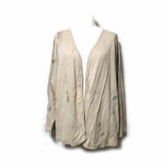 Jurgen Lehl ヨーガンレール デザインショールカーディガン (天然素材 草木染 ベージュ) 112685