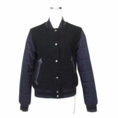 G.V.G.V.×UNIQLO ジーブイジーブイ×ユニクロ 袖切り替えスタジャン (ジャケット ブルゾン 紺 コラボレーション 限定) 112951