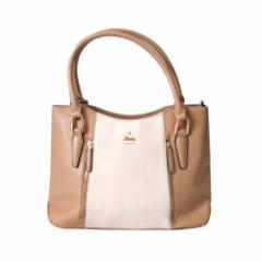 【新品】 LITTLE accessories リトルアクセサリーズ バイカラートートバッグ (ベージュ 白 タグ付き 未使用) 113240