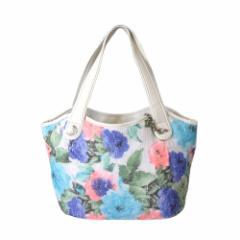 【新品】 SAVOY サボイ ローズパターン2wayトートバッグ (花柄 薔薇柄 タグ付き 未使用) 113241