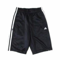 adidas アディダス ラインショートパンツ (ハーフパンツ 黒 ジャージ) 113547