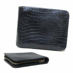 COMME des GARCONS コムデギャルソン レザーウォレット 折財布 (黒 革 皮) 113575