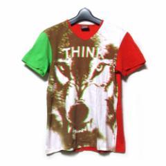 W&LT  ダブルアンドエルティー「S」イタリア製 アナーキーTシャツ (Walter Van Beirendonck ウォルト WandLT 半袖 赤 動物) 113798