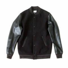 美品 BROWNY STANDARD ブラウニー スタンダード モノトーンスタジャン (黒 ブルゾン ジャケット) 114220
