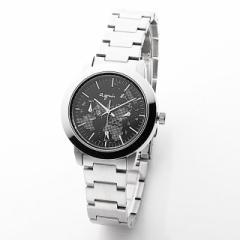 腕時計 ブラック シルバー 時計 アニエスb レディース 防水 見やすい 地球 ブランド 人気 おしゃれ シンプル おすすめ 大学生 クリスマス