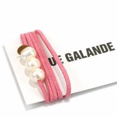 ルーガランド チョーカー ブレスレット ネックレス ピンク レディース パール 革紐 レザー ブランド プレゼント 女性 クリスマス