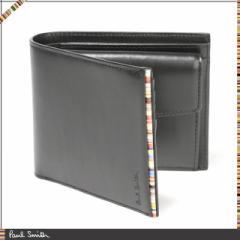 ポールスミス 財布 メンズ 二つ折り財布 ブランド財布 革財布 Paul Smith 財布メンズ 2つ折財布 小銭入れ ブラック