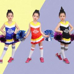 ダンス衣装 子供 2点以上送料無料!キッズチア衣装 キッズチアダンス衣装 チアガールキッズ衣装 子供舞台衣装 発表会用衣装