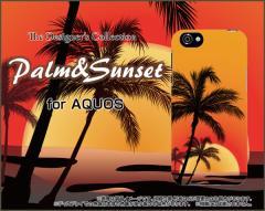 AQUOS R SH-03J SHV39 604SH EVER SH-02J ZETA ハード スマホ カバー ケース Palm&Sunset /送料無料