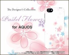 AQUOS R SH-03J SHV39 604SH EVER SH-02J ZETA ハード スマホ カバー ケース Pastel Flower type004 /送料無料