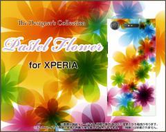 XPERIA XZ1 SO-01K SOV36 701SO XZ1 Compact SO-02K XZ Premium エクスペリア ハード スマホ ケース Pastel Flower type001 /送料無料