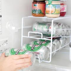 収納棚 缶ディスペンサー 冷蔵庫内収納 上にも...