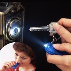 防災用品 LEDライト付 ホイッスル ( 災害 )