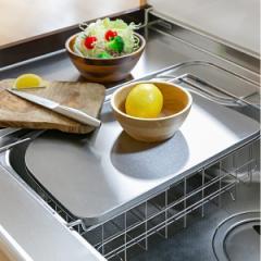 水切りカゴ 調理スペースが広がるトレー&水切り leye レイエ 日本製 ( まな板受け )