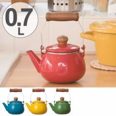 ティーポット ノルディカ 紅茶ポット 0.7L ホーロー製 茶漉し付き