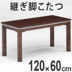 家具調こたつ ハイタイプこたつ 高さ6段階調節脚 プラム 幅120cm ウォールナット ( テーブル 継ぎ脚 長方形 )