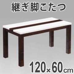 家具調こたつ ハイタイプこたつ 高さ4段階調節脚 スタート ハイグロス天板 幅120cm ( テーブル 継ぎ脚 長方形 )
