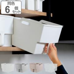 キッチン収納ケース 吊り戸棚ボックスワイド 幅24cm 6個セット
