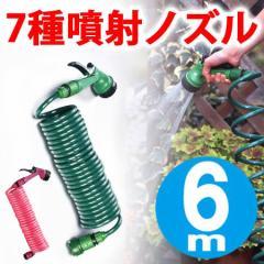 ガーデンコイルホース レギュラー 6m ( 洗車 散水 ガーデニング 収納 園芸 )