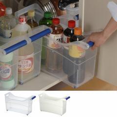 シンク下ストッカー キャスター付き ハンドル付き プラスチック製 キッチン収納 ( 整理ケース )