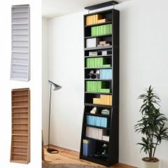 本棚 上置き棚セット 1cmピッチ 薄型 ブックシェルフ 幅60cm ( スリム シェルフ シンプル 大容量 収納 壁面 )