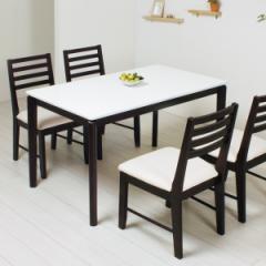 ダイニングテーブル UVダイニング UV塗装 白鏡面仕上げ 幅120cm ( つくえ リビングテーブル )