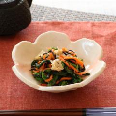 花型皿 和食器 赤吹き志野 変形皿シリーズ 美濃焼 日本製 磁器