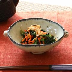 耳付小鉢 和食器 渕呉須流し 変形皿シリーズ 美濃焼 日本製 磁器