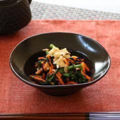 なぶり浅鉢 和食器 黒ゆず 変形皿シリーズ 美濃焼 日本製 陶器